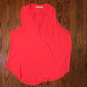 Brand new coral Lush sleeveless blouse.